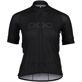 POC Essential Road Logo Kurzarm Trikot Damen schwarz
